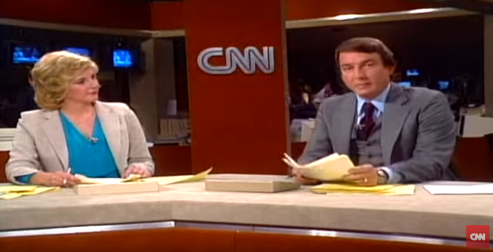 CNN first broadcast.
