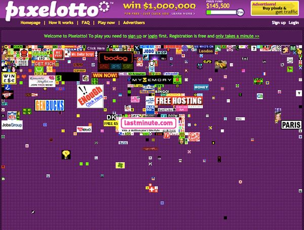 alex tew million dollar homepage