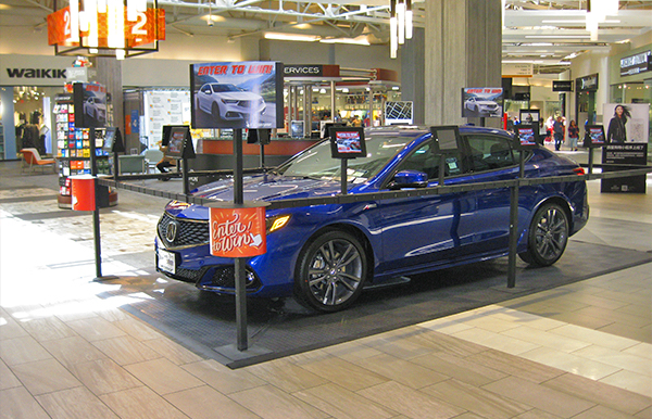 Why Nobody Ever Wins That Car Giveaway At The Mall - Car show display stand for sale