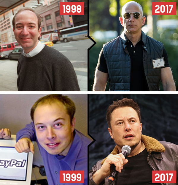 bezos then and now